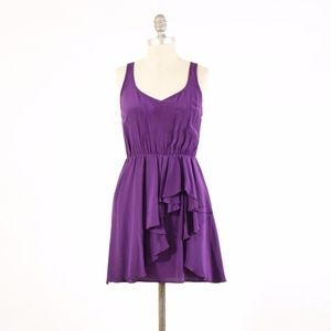 Amanda Uprichard Royal Purple Silk Mini Dress